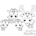 deer family  gif, png, jpg, eps, svg, pdf
