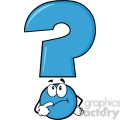 6268 royalty free clip art blue question mark cartoon character thinking  gif, png, jpg, eps, svg, pdf