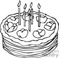 brown birthday cake
