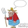 farmer holding a rake
