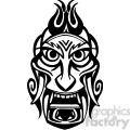 ancient tiki face masks clip art 033