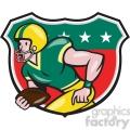 american football receiver rusher side shield  gif, png, jpg, eps, svg, pdf