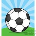7345 royalty free rf clipart illustration soccer ball on grass  gif, png, jpg, eps, svg, pdf