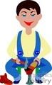 people working occupational handyman carpenter carpenters   occupational018yy clip art people occupations  gif, jpg