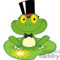 cartoon-groom-frog-on-lillypad  gif, png, jpg, eps, svg, pdf