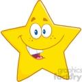 6716 royalty free clip art smiling star cartoon mascot character  gif, png, jpg, eps, svg, pdf