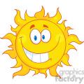 royalty free rf clipart illustration smiling sun cartoon mascot character  gif, png, jpg, eps, svg, pdf