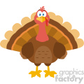 thanksgiving turkey bird cartoon mascot character vector flat design  gif, png, jpg, eps, svg, pdf