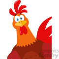 cute red rooster bird cartoon peeking from a corner vector flat design  gif, png, jpg, eps, svg, pdf