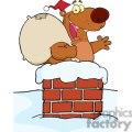 3428-happy-santa-bear-waving-a-greeting-in-chimney  gif, png, jpg, eps, svg, pdf