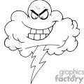 4067-Cartoon-Black-Cloud-With-Lightning