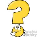 6266 royalty free clip art yellow question mark cartoon character thinking  gif, png, jpg, eps, svg, pdf