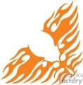 flames fire silhouette vinyl symmetrical tattoo art design gif, jpg, eps