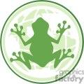 cartoon-frog-in-earth-logo  gif, png, jpg, eps, svg, pdf