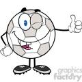 royalty free rf clipart illustration winking soccer ball cartoon character holding a thumb up  gif, png, jpg, eps, svg, pdf